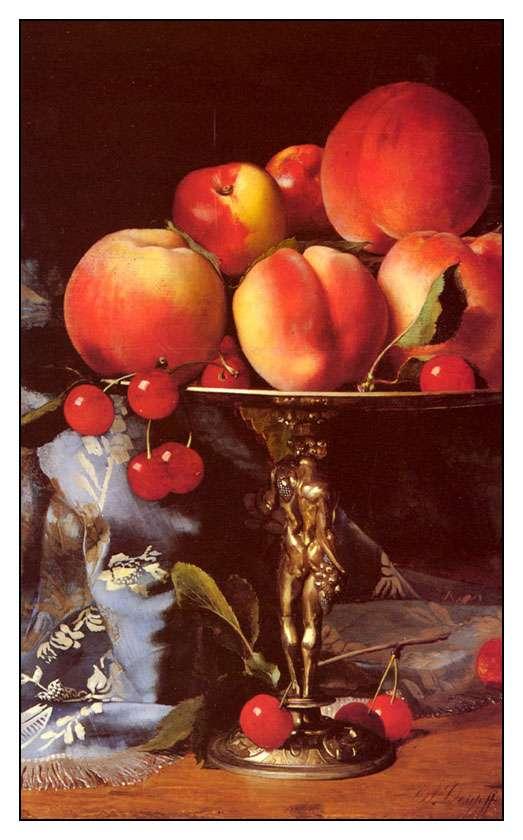 natürmort meyve çizimi